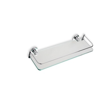 Clear Glass Bathroom Shelf